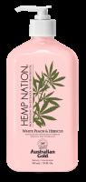 Australian Gold Hemp Nation White Peach Hibiscus Body Lotion 535 ml