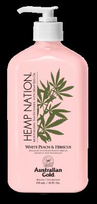 Australian Gold Hemp Nation White Peach Hibiscus Body Lotion 535 ml - AKCE